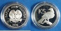 5 Kina 1976 Papua-Neuguinea Paradiesvogel ...