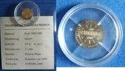 10 Euro 2000 Deutschland Kleinst-Goldmünze...
