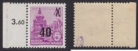 40 auf 48 Pfg. 1954 DDR 5-Jahresplan mit A...