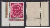 20 Pf. 1951 Bundesrepublik Deutschland Pos...