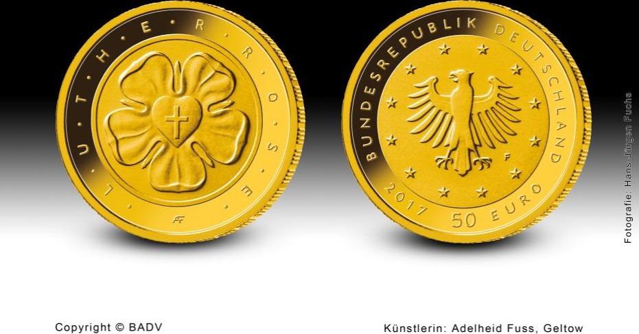 50 Euro 2017 Br Deutschland 50 Euro 2017 Lutherrose 500 Jahre