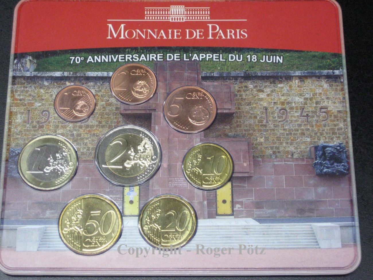 388 Euro 2010 Frankreich 388 Euro Sonder Kursmünzensatz 2010 De