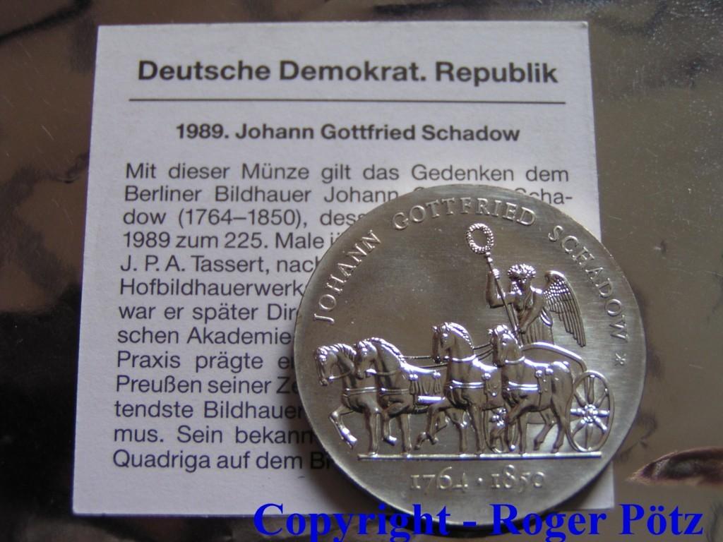 10 Mark 1989 Ddr 10 Mark 1989 Johann Gottfried Schadow Fdc Ma Shops