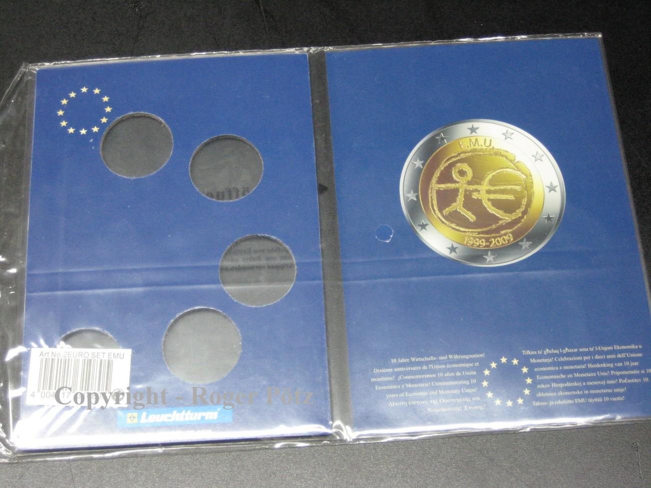 Ohne 2009 Deutschland Leuchtturm Folder Für 5 X 2 Euro 10 Jahre