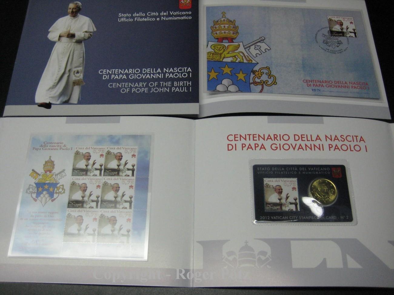 50 Cent 2012 Vatikan 50 Cent Und 525 Euro Briefmarken Postfrisch