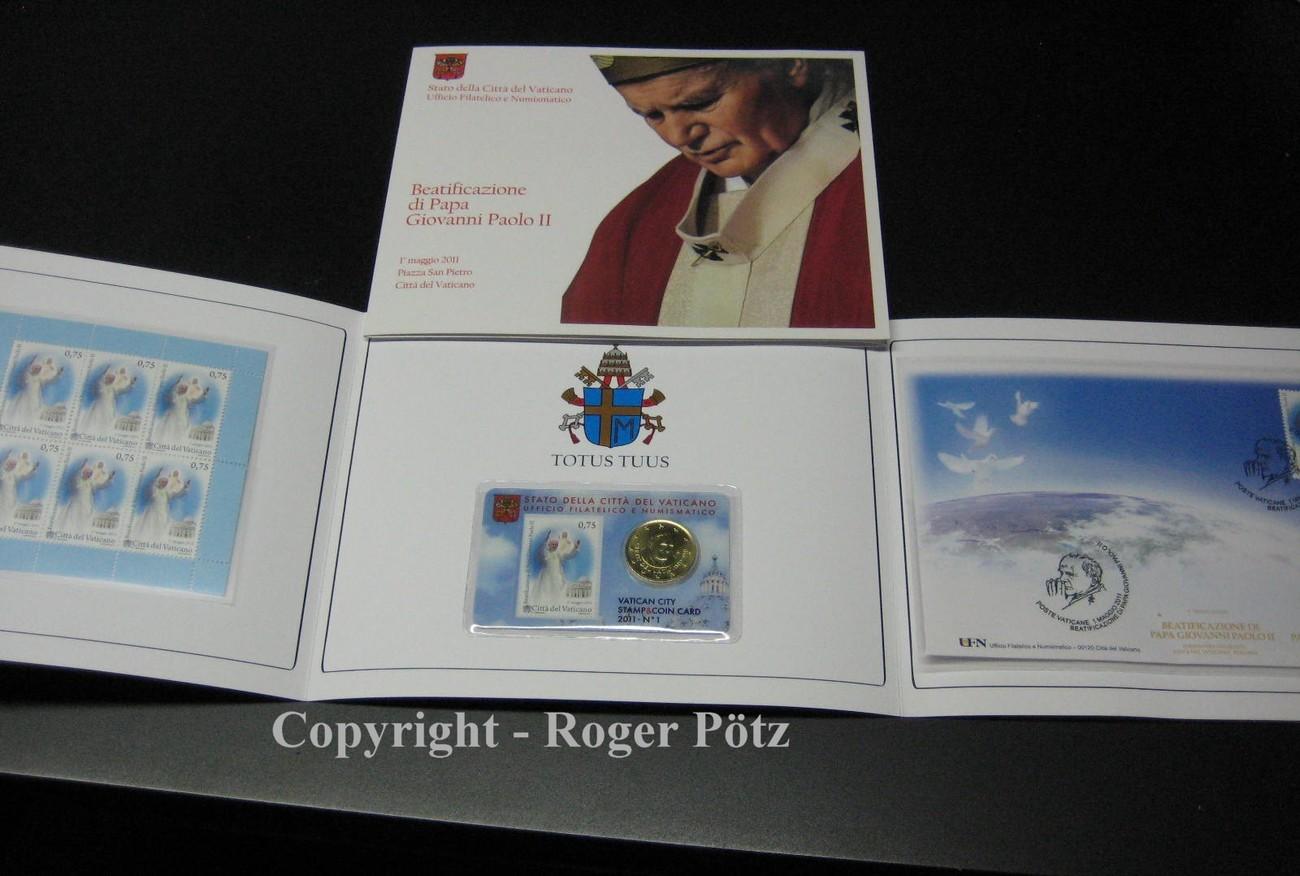 50 Cent 2011 Vatikan 50 Cent Und 525 Euro Briefmarken Postfrisch