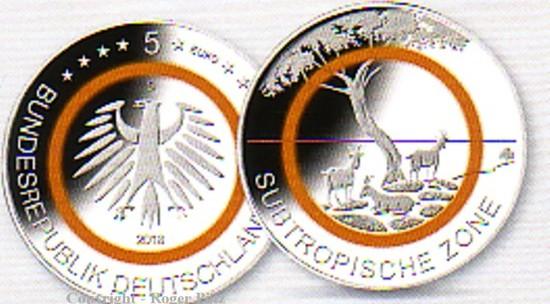 5 Euro 2018 Deutschland 5 Euro 2018 Klimazonenserie Subtropische