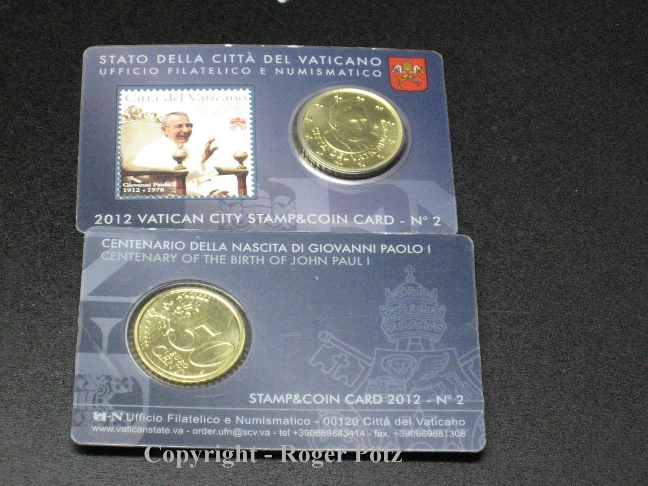 50 Cent 2012 Vatikan 50 Cent 2012 Stamp Und Coincard Nummer 2 Fdc