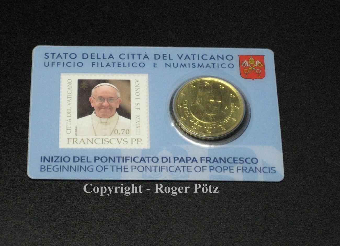 50 Cent 2013 Vatikan 50 Cent 2013 Stamp Und Coincard Nummer 3 Fdc