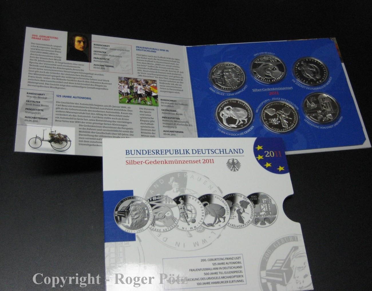 60 Euro 2011 Brd 6 X 10 Euro 2011 Silberset Pp Fb Ma Shops