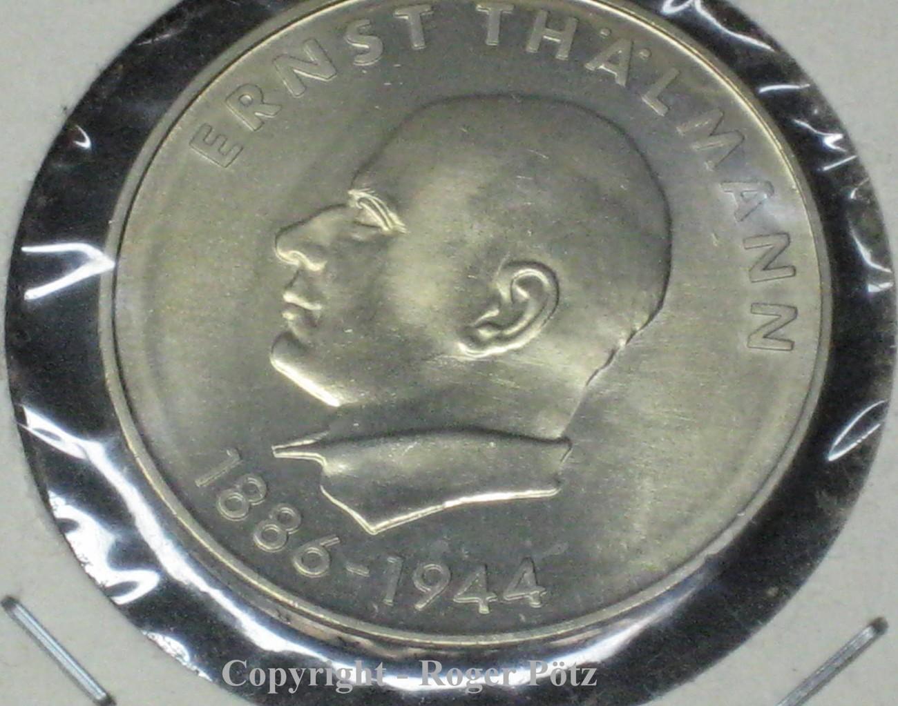 20 Mark 1971 Ddr 20 Mark 1971 Ernst Thälmann Vz Vorzüglich Ma Shops