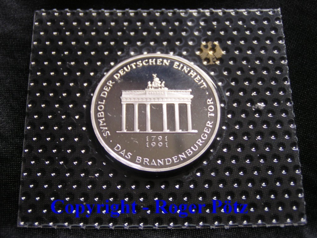 10 Dm 1991 Deutschland 10 Dm 1991 Silber Pp 200 Jahre Brandenburger