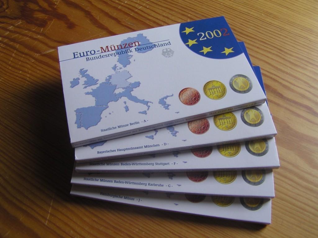 1940 Euro 2002 Brd Kursmünzensätze 2002 A D F G J Komplett Polierte