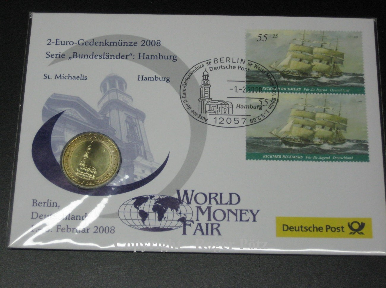 2 Euro 2008 Brd 2 Euro 2008 Hamburger Michel J Im Numisbrief World