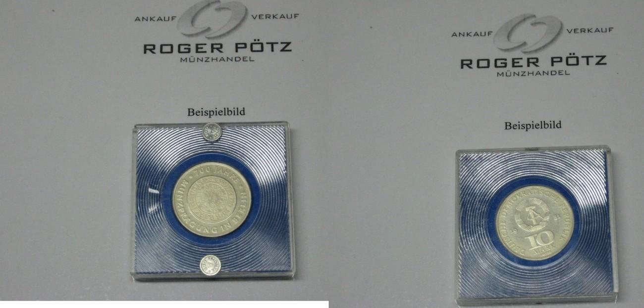 10 Mark 1981 Ddr 10 Mark 1981 Goldguldenprobe Münze Berlin Pp Fdc