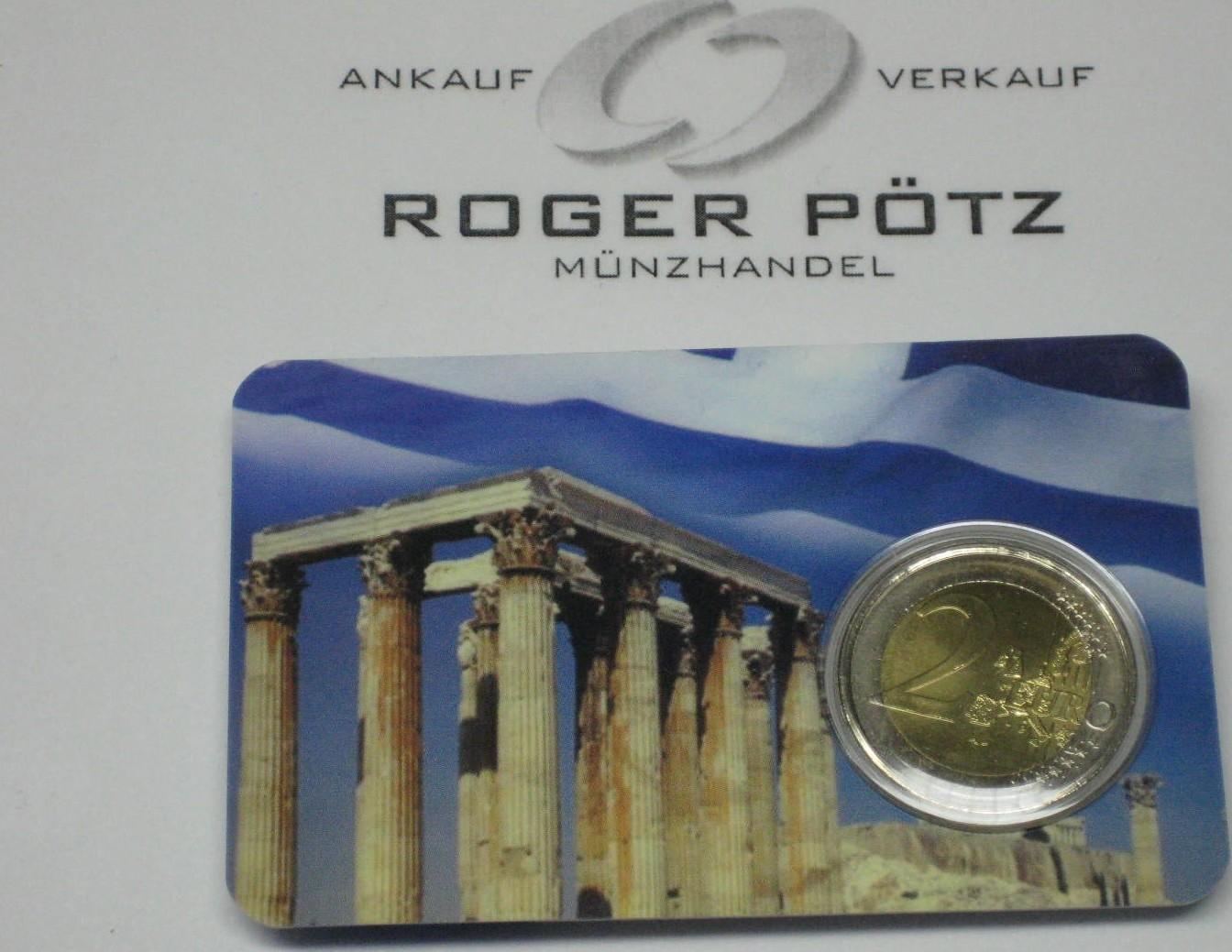 2 Euro 2004 Griechenland 2 Euro 2004 Olympiade Athen In Coincard Fdc