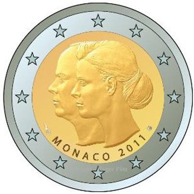 2 Euro 2011 Monaco 2 Euro 2011 Hochzeit Charlene Und Albert Bfr Fdc