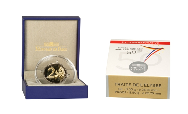 2 Euro 2013 Frankreich 2 Euro 2013 Elysee Vertrag Pp Ovp Belle