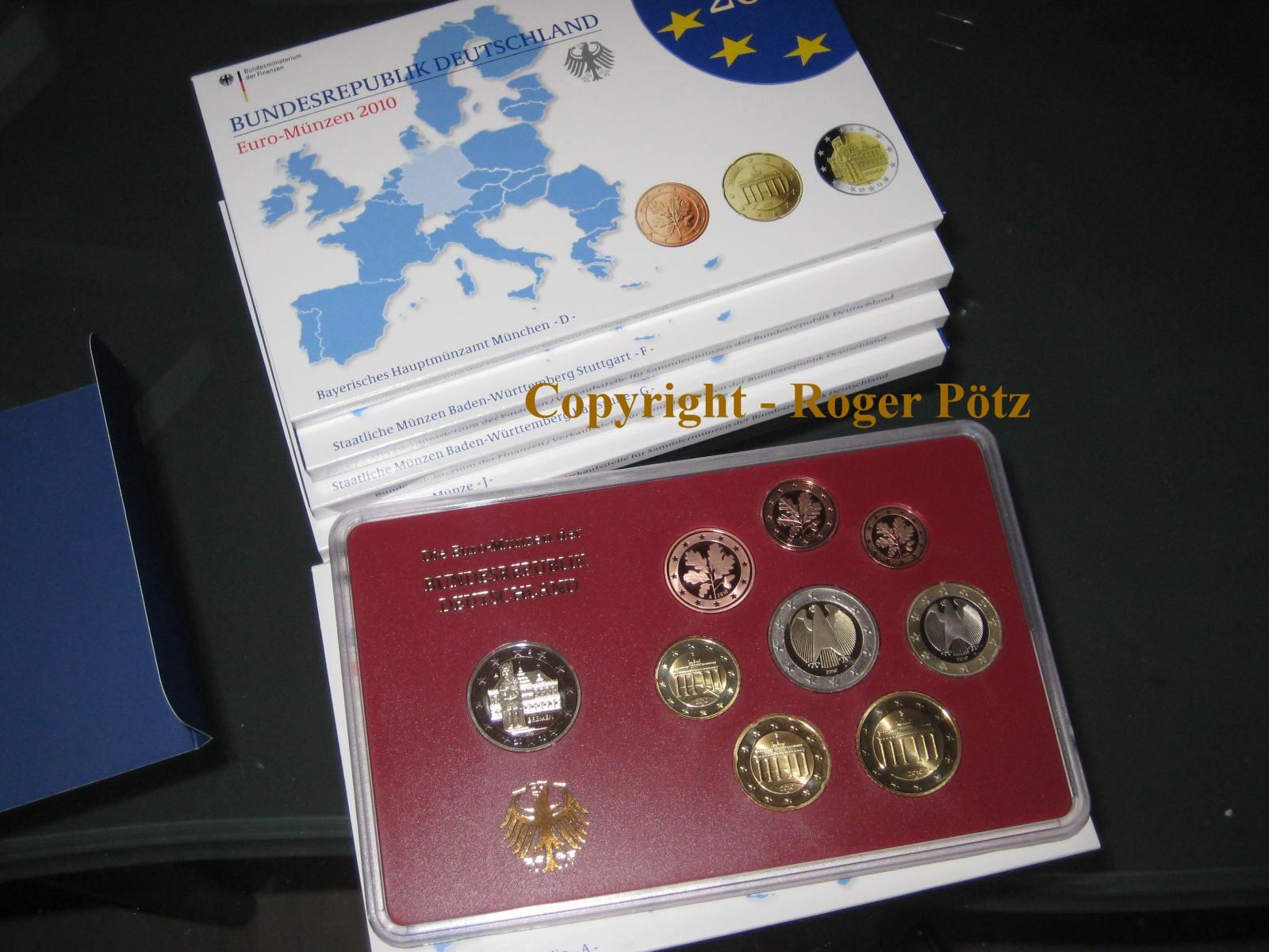 5 X 588 Euro 2010 Deutschland 5 X 588 Euro 2010 Brd