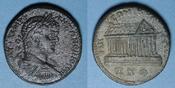 215 RÖMISCHE PROVINZIALPRÄGUNGEN Caracalla (198-217). Bronze. Emèse (Syrie) an 527 (= 215/216) R ! R ! Patine légèrement granuleuse, br