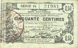 16.6.1916 FRANZÖSISCHE NOTSCHEINE Aisne, ...