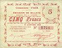 9.1.1915 FRANZÖSISCHE NOTSCHEINE Aix (59)...