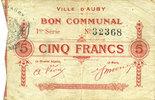 5.12.1914 FRANZÖSISCHE NOTSCHEINE Auby (5...