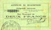 19.6.1915 FRANZÖSISCHE NOTSCHEINE Beaurev...