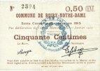 31.1.1915 FRANZÖSISCHE NOTSCHEINE Boiry-N...