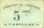 1918 FRANZÖSISCHE NOTSCHEINE Cadillac (33...