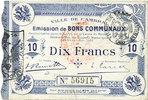 1914-10-30 FRANZÖSISCHE NOTSCHEINE Cambra...