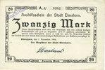 7.11.1918 GERMANY - EMERGENCY NOTES (1914-1923) A - J Elmshorn. Stadt.... 5,00 EUR  +  7,00 EUR shipping