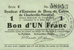 11.3.1916 FRANZÖSISCHE NOTSCHEINE Charlev...