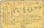 11.9.1915 FRANZÖSISCHE NOTSCHEINE Denain ...