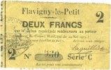 24.5.1915 FRANZÖSISCHE NOTSCHEINE Flavign...