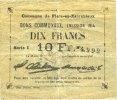 1914 FRANZÖSISCHE NOTSCHEINE Flers-en-Esc...