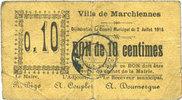 2.7.1915 FRANZÖSISCHE NOTSCHEINE Marchien...