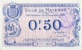 8.12.1917 FRANZÖSISCHE NOTSCHEINE Mayenne...