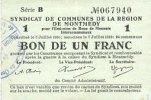 7.7.1916 FRANZÖSISCHE NOTSCHEINE Montmédy...