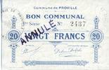 FRANZÖSISCHE NOTSCHEINE Proville (59). C...