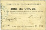 14.8.1915 FRANZÖSISCHE NOTSCHEINE Pouilly...