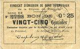 26.4.1917 FRANZÖSISCHE NOTSCHEINE Rimogne...