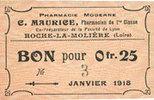 8.5.1918 FRANZÖSISCHE NOTSCHEINE Roche-la...