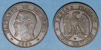 1854 BB FRENCH MODERN COINS 2e empire (1852-1870). 2 centimes, tête nu... 12,00 EUR  +  7,00 EUR shipping