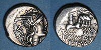vers 125 av. J-C ROMAN REPUBLIC République romaine. M. Porcius Laeca (... 60,00 EUR  +  7,00 EUR shipping