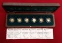 6 x 20 Euro Goldmünzen, je 1/8 Unze 2010-2015 Bundesrepublik Deutschland, BRD Deutscher Wald Komplettsatz Stempelglanz mit Holzbox & Zert. ohne Pappschuber