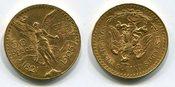 50  Pesos Gold 1925 Mexico Kursmünze Centenario vz-prfr