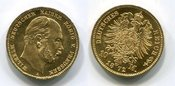 10 Mark Goldmünze Kursmünze 1872 A Preußen, State of Prussia German Empire Wilhelm I. prfr. übl. min. rdf früher Abschlag