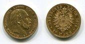 10 Mark Gold 1875 B Preußen, Prussia State of German Empire Wilhelm I. Kursmünze Circulation Coin sehr schön