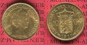 10 Gulden Goldmünze Kursmünze 1917 Niederlande Holland Niederlande, Holland, 10 Gulden Gold 1917 Wilhelmina f. prägefrisch